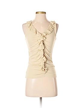 Ellen Tracy Sleeveless Silk Top Size XS