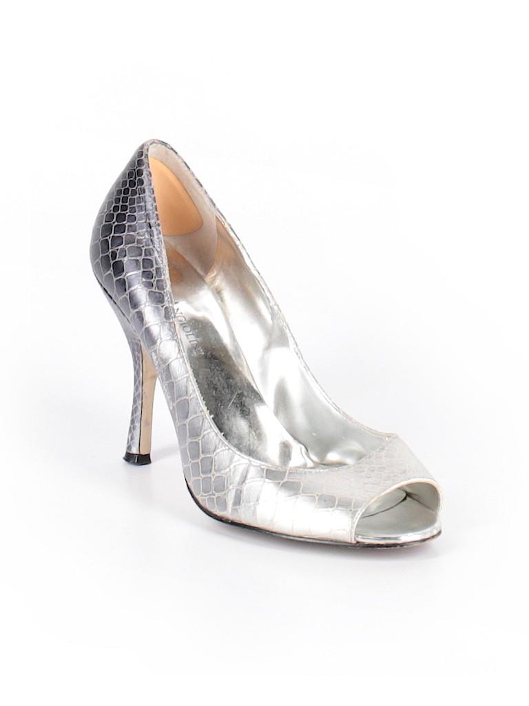 Enzo Angiolini Metallic Silver Heels Size 8 1 2 - 78% off  c7bbc772cf5a