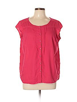 Eddie Bauer Short Sleeve Button-Down Shirt Size L (Petite)