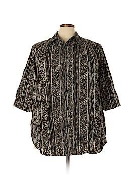 Maggie Barnes 3/4 Sleeve Button-Down Shirt Size 20 (Plus)