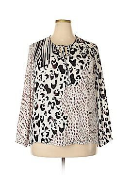 CAbi Long Sleeve Blouse Size XL