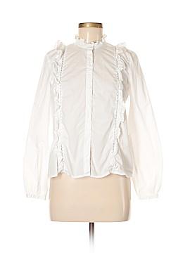 Topshop Long Sleeve Button-Down Shirt Size 8
