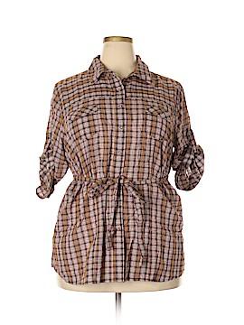 Torrid 3/4 Sleeve Button-Down Shirt Size 2X Plus (2) (Plus)