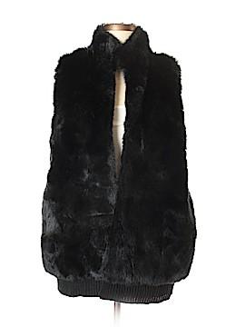 Denim 24/7 Faux Fur Vest Size M