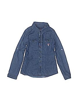 Guess Long Sleeve Button-Down Shirt Size 7