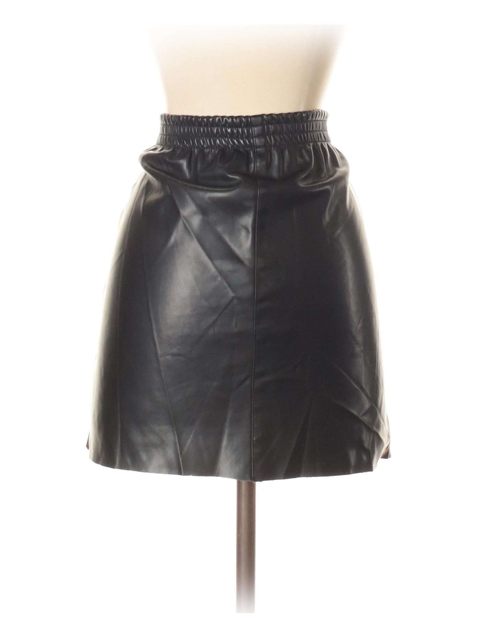 Zara Leather leisure Skirt Faux Boutique wpv17R8aa