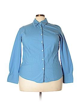 George Long Sleeve Button-Down Shirt Size 18 - 20 Plus (Plus)