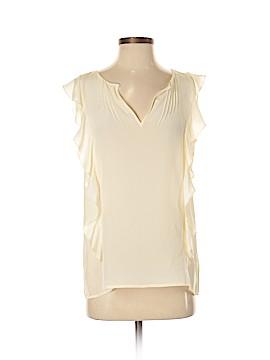 J. Crew For PIAMITA Short Sleeve Silk Top Size 4