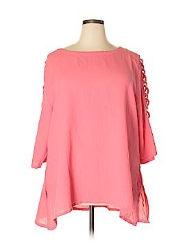 Lulu-B 3/4 Sleeve Blouse Size 1X (Plus)