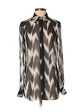 Rachel Zoe Long Sleeve Silk Top Size 0