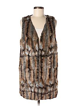 Romeo & Juliet Couture Faux Fur Vest Size L