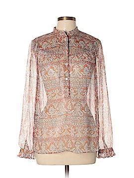INC International Concepts Long Sleeve Silk Top Size 8