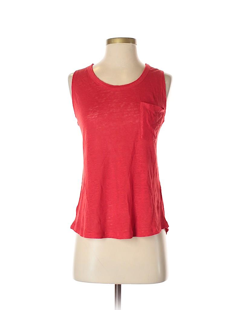04f6529d3d Zara 100% Linen Red Sleeveless Top Size S - 59% off
