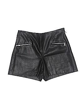 Zara Basic Faux Leather Shorts Size L