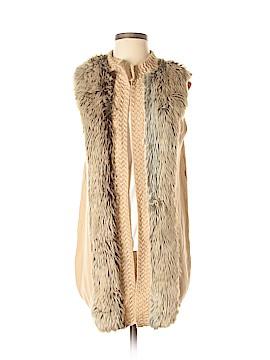 H&M Faux Fur Vest Size S