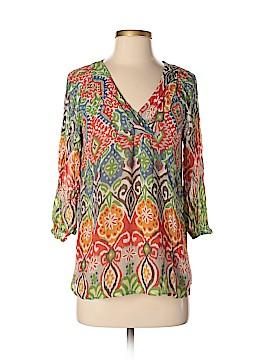 Sundance 3/4 Sleeve Silk Top Size XS