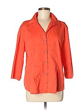Fiorlini International 3/4 Sleeve Button-Down Shirt Size XL