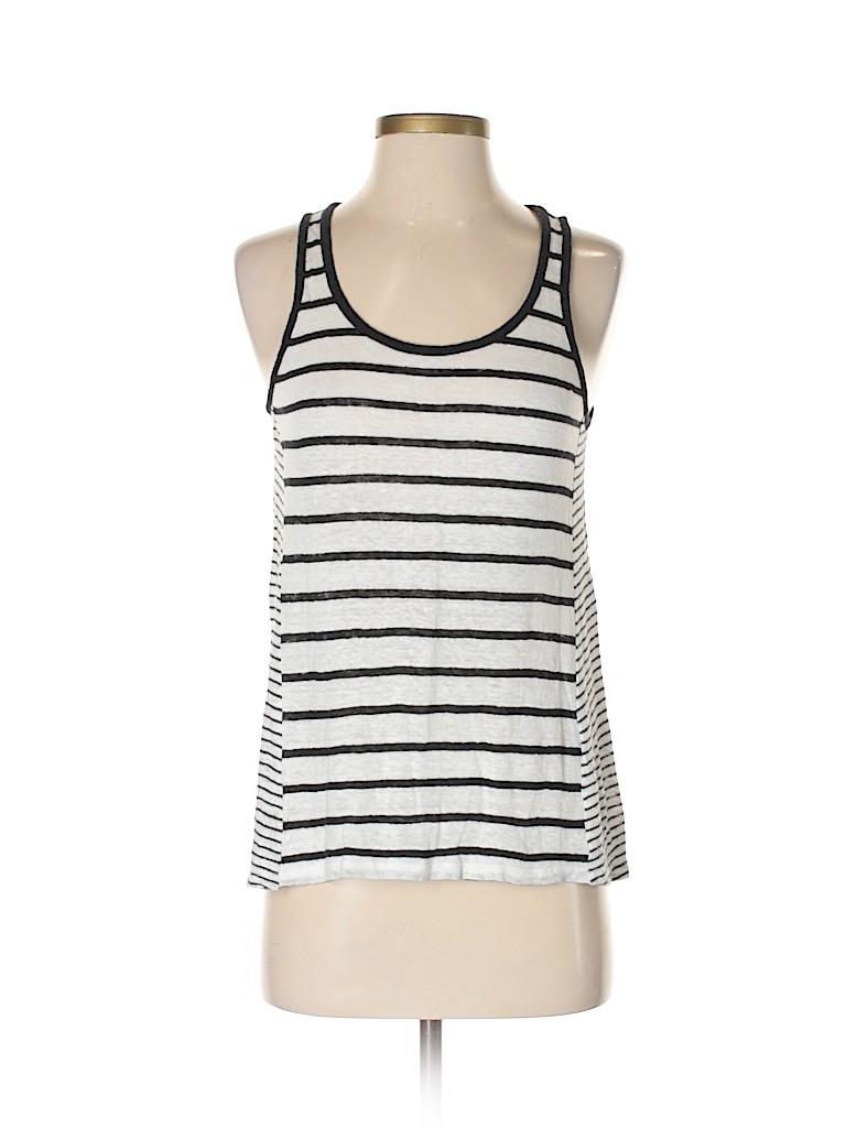 65719781a5 Vince. 100% Linen Stripes White Tank Top Size XS - 75% off