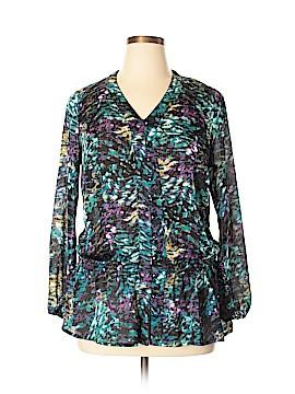 Fashion Bug 3/4 Sleeve Blouse Size 1X (Plus)