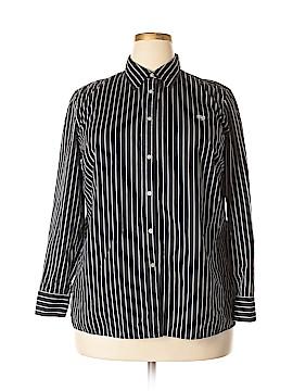 Chaps Short Sleeve Button-Down Shirt Size 1X (Plus)
