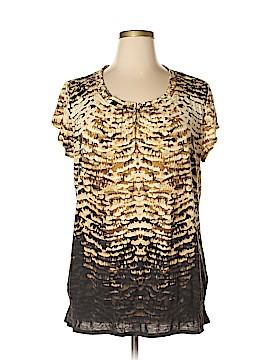 Lizwear by Liz Claiborne Short Sleeve Top Size XXL