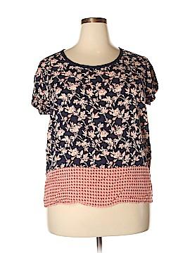 Cynthia Rowley for T.J. Maxx Short Sleeve Blouse Size 1X (Plus)