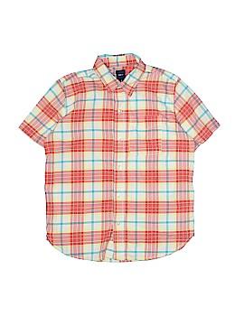 Gap Kids Short Sleeve Button-Down Shirt Size 8