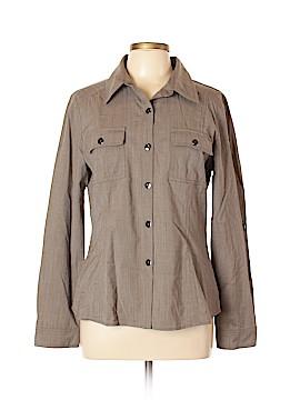 St. John Long Sleeve Button-Down Shirt Size 12