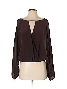 Emerson Thorpe Long Sleeve Silk Top Size S