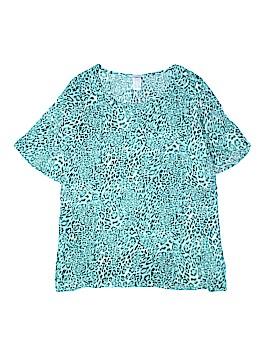 Essentials Short Sleeve Blouse Size 2X (Plus)