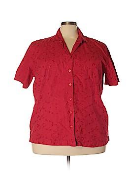 Bobbie Brooks Short Sleeve Button-Down Shirt Size 22 - 24 (Plus)
