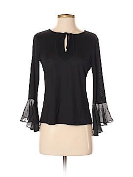 Single Los Angeles Long Sleeve Silk Top Size S