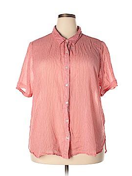 Rebecca Malone Short Sleeve Button-Down Shirt Size 3X (Plus)