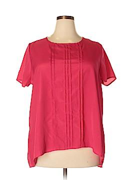 Pure Energy Short Sleeve Blouse Size 2X (Plus)