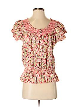 Nine West Vintage America Short Sleeve Button-Down Shirt Size S