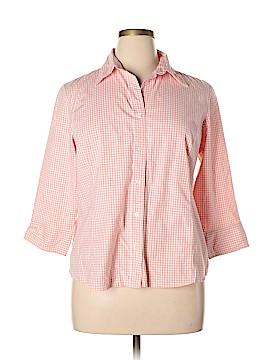 St. John's Bay 3/4 Sleeve Button-Down Shirt Size 1X (Plus)