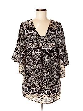 Sunner Short Sleeve Silk Top Size M