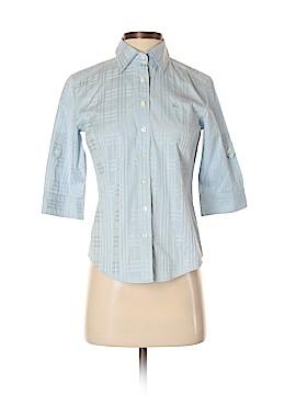 Burberry 3/4 Sleeve Button-Down Shirt Size XS