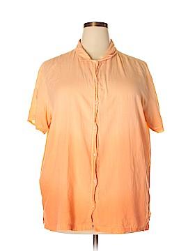 Intrigue Short Sleeve Button-Down Shirt Size 2X (Plus)