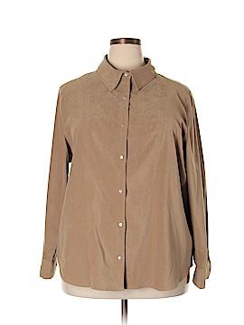 Jessica London Long Sleeve Button-Down Shirt Size 2X (Plus)