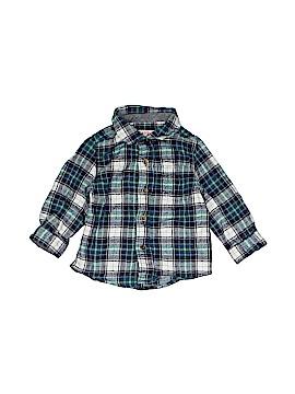 Cat & Jack Long Sleeve Button-Down Shirt Size 12 mo