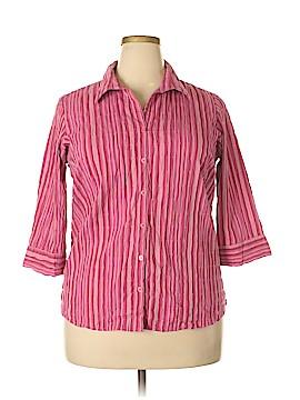Quizz Woman 3/4 Sleeve Button-Down Shirt Size 18 - 20 Plus (Plus)