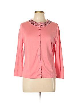 Garnet Hill Silk Cardigan Size L