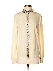 Equipment Women Long Sleeve Silk Top Size S