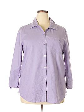 Liz Baker 3/4 Sleeve Button-Down Shirt Size XL