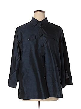 L-RL Lauren Active Ralph Lauren 3/4 Sleeve Button-Down Shirt Size 18W (Plus)