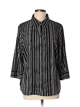 Apt. 9 3/4 Sleeve Button-Down Shirt Size 1X (Plus)