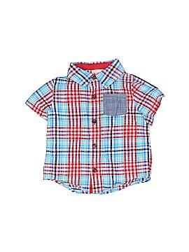 Cat & Jack Short Sleeve Button-Down Shirt Size 18 mo