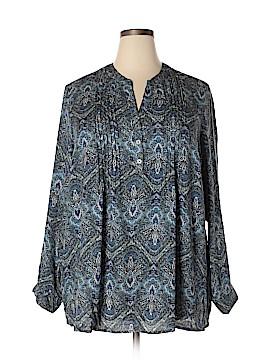 Roz & Ali Long Sleeve Blouse Size 3X (Plus)