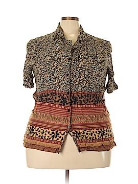 Rene Margo Short Sleeve Blouse Size 3X (Plus)